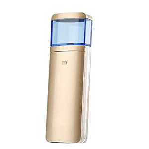 Facial Mist Sprayer,Portable Sliding Nano Facial Steamer Handy Mirror Moisture