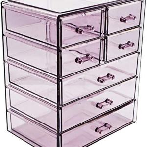 Sorbus Cosmetics Makeup and Jewelry Big Purple Storage Case Display