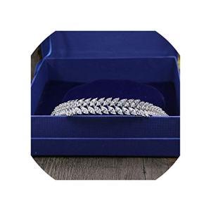 Luxury Leaf Full Zircon Tiara CZ Crown Headband Wedding Hair Accessories