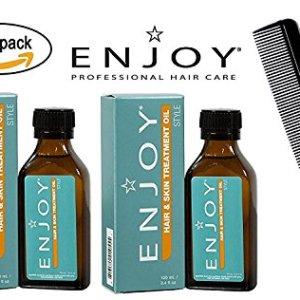Enjoy Hair & Skin TREATMENT OIL (with Sleek Steel Pin Tail Comb)