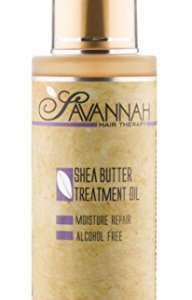 Savannah Hair Therapy Treatment Oil - Shea Butter, Cotton and Silk Protein and Vitamin B6 - For Dry and Damaged Hair. Sodium Chloride and Sulfate Free. 3.38 oz ...