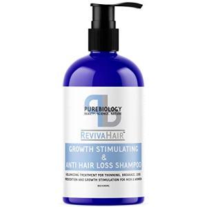Pure Biology Hair Growth Stimulating Shampoo with Biotin, Keratin