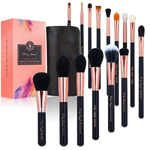 Party Queen 15Pcs Makeup Brushes Set Luxury Rose Golden