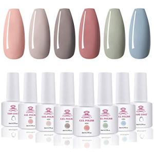 Makartt Gel Nail Polish Kit - Sweetie Series 6 Colors 8ml Fall Winter Pink