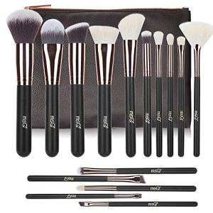 Makeup Brushes MSQ 15pcs Pro Rose Gold Makeup Brush Set