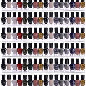 Sooyee 66-90 Bottles 6 Pack Clear Acrylic Shelf Nail Polish