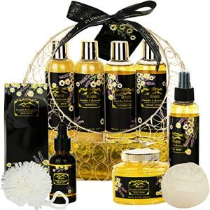 Luxurious Spa Gift Basket with Lavender Chamomile Fragrance