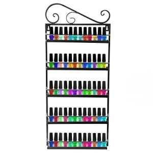 DAZONE Nail Polish Wall Rack Organizer Holds 50 Bottles Nail Polish