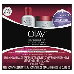 Microdermabrasion Kit by Olay Regenerist, Face Peel & Scrub for Dry Skin