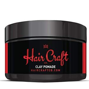 Hair Craft Co. Clay Pomade 2.8oz - Shine Free Matte Finish - Medium Hold/Natural
