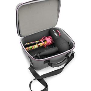 Casematix 12 inch Salon Hair Styling Tool Travel Case Bag Fits Blow Dryer
