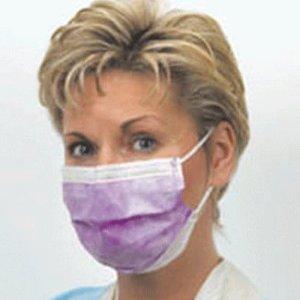 Crosstex GCIBL Latex-Free Isofluid Earloop Mask, Blue (Pack of 50)