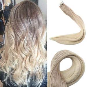 Full Shine 18 Inch Human Hair Tape Hair Extensions Brazilian Hair Color
