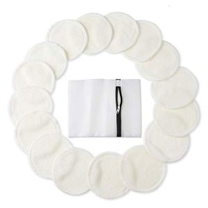 Bamboo Makeup Remover Pads (16 Pack), 2 Layers 3.15inch Reusable Organic
