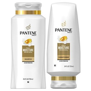 Pantene Moisturizing Shampoo and Conditioner for Dry Hair, Daily Moisture