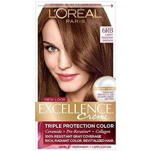 L'Oreal Excellence Creme Triple Protection Hair Color, Light Reddish Brown