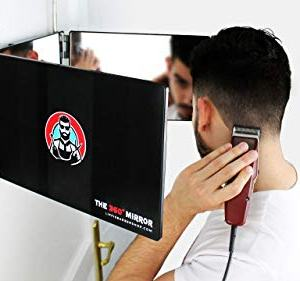 The 360° Mirror - 3 Way Mirror for Self Hair Cutting with Height Adjustable