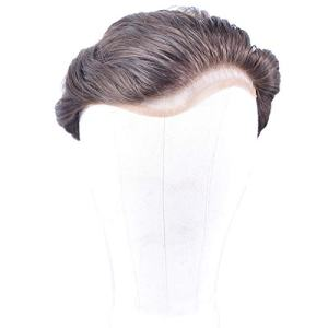 Full French Soft Lace Human Hair Toupee for Men Soft Wigs