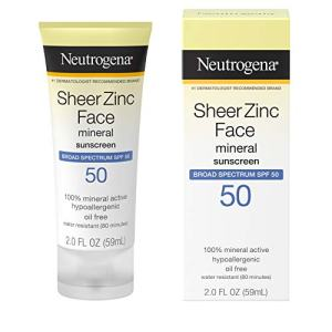Neutrogena Sheer Zinc Oxide Dry-Touch Face Sunscreen with Broad Spectrum