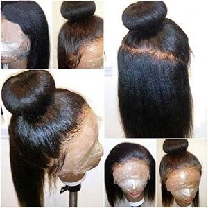 Italian Light Yaki Lace Front Wigs Human Hair for Black Women