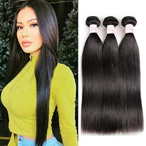 Gluna Hair Brazilian Straight Virgin Hair 3 Bundles Grade 8A 100%