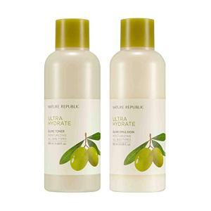 Nature Republic Toner Emulsion Set with Olive Leaf Extracts