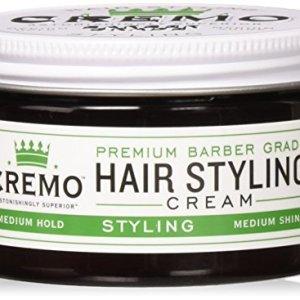 Cremo Premium Barber Grade Hair Styling Cream, Medium Hold, Medium Shine