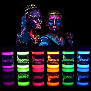 Black Light Paint UV Neon Face & Body Paint Glow Kit - Made In USA
