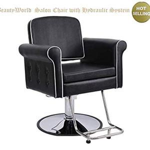 Beauty4Star Salon Hair Styling Chair with Hydraulic Pump for Hair Cutting
