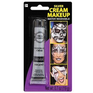 Silver Metallic Cream - Makeup Costume Accessory