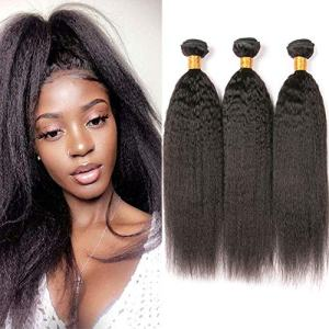 Brazilian Yaki Straight Hair 3 Bundles Human Hair Grade 10a Kinky Straight