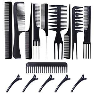 Professional Styling Comb Set 10 Piece Hair Combs Salon Hair Styling Tools