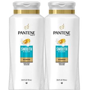 Pantene, Shampoo, with Argan Oil, Pro-V Smooth and Sleek Frizz Control