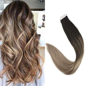 "Full Shine 16"" Blonde Balayage Tape in Extensions 100% Remy Human Hair"