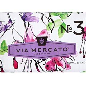 Via Mercato Italian Soap Bar (200 g), No. 3 - Pepe Rosa, Lavender and Vanilla Bean