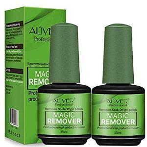 Magic Nail Polish Remover 2 Pack,Soak-Off Gel Nail Polish In 3-5 Minutes