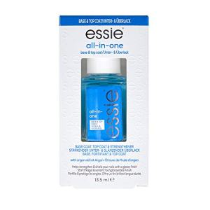 essie all in one base coat + top coat + strengthener, nail polish
