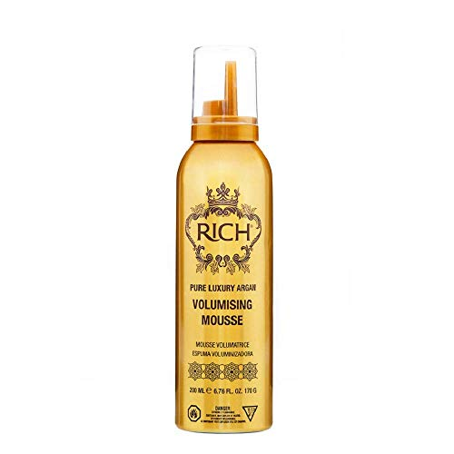 RICH Hair Care Pure Luxury Argan Volumizing Mousse for All Hair Types