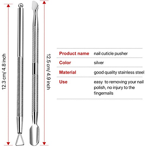 TOODOO Cuticle Peeler Scraper Remove Gel Nail Polish and Cuticle Pusher   Manicure and pedicure device package: package deal consists of 1 x triangle cuticle pusher remover device, 1 x double ended cuticle pusher cutter and spoon nail cleaner, completely 2 items cuticle remover instruments Triangle design cuticle pusher remover: particular triangle head design, make it simply, rapidly to take away your nail polish, no damage to the fingernails, and save time and vitality Double ended cuticle pusher device: 2-in-1 cuticle upkeep device helps hold your fingers good wanting and effectively saved, sharp to chop or scrape away useless cuticle on one finish or removers nail polish, curved flat finish pushes the pores and skin again flawlessly Good materials and non-slip deal with: these manicure remover set is product of sturdy and sturdy stainless-steel; Textured deal with will add grip, to good management the manicure pedicure remover instruments Include a plastic field: offers you a helpful field to retailer your instruments, retaining them clear and all in one place; Nice for career nail artwork, nail artwork learner, salon, and residence DIY nail artwork    Cuticle peeler scraper take away gel nail polish and cuticle pusher and spoon nail cleaner, 2 items manicure and pedicure instruments in plastic field</p> <p>Triangle head nail polish remover: Triangle head design, it doesn't harm your nails, and simple and snug to remover nail polish, appropriate for varied measurement and form of the nails.</p> <p>2-in-1 Cuticle upkeep device: The curved-end is use for pushing cuticles, the design simply helps to form the cuticles; The opposite finish helps to chop or scrape away useless cuticle.</p> <p>Options: Made of fine high quality stainless-steel, anti-rust and sturdy to make use of; The nail polish remover instruments all with a textured no-slip grip, you possibly can management the deal with effectively whereas utilizing, not simple to fall off.</p> <p>Large purposes: T