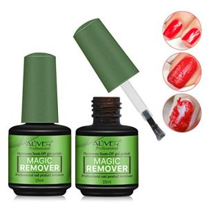 2 Pack Magic Nail Polish Remover,Quick Professional Removes Soak-Off Nail Polish