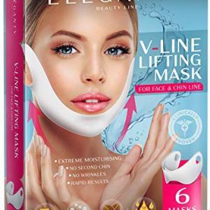 Eleganty V-line Lifting Mask 6pcs Pack Double Chin Reducer Face Contour Neckt