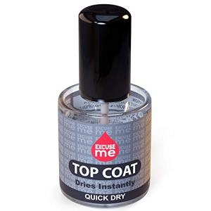 Excuse Me Quick Dry Fast Drying Super Shiny Nail Polish Top Coat