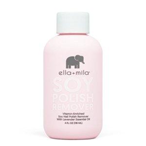 Ella+Mila Soy Nail Polish Remover - Acetone Free w/Lavender Essential Oil
