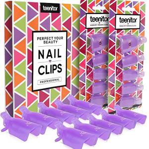 Teenitor Acrylic Nail Polish Remover Clips, 20 Pieces Reusable Toenail and Finger Gel
