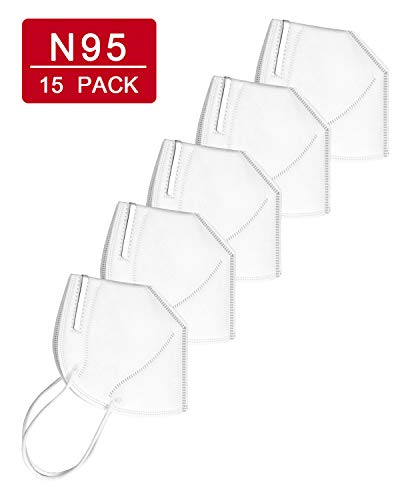 RUISS N95 Disposable Face Mask (15 Pack) Dust Mask for Personal Health