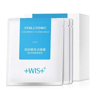 WIS Hyaluronic Acid Moisturizing Face Facial Mask Sheet,Hydrating Dry Skin
