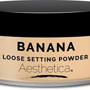 Aesthetica Banana Loose Setting Powder - Flash Friendly Superior Matte