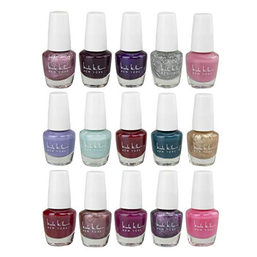 Nicole Miller Mini Nail Polish Set - 15 Glossy and Trendy Colors