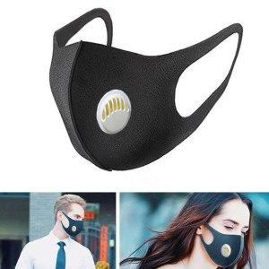 Black Valve Mask Mouth Face Masks Anti PM2.5 Dust Maske Washable Reusable Mouth Cover PM2.5