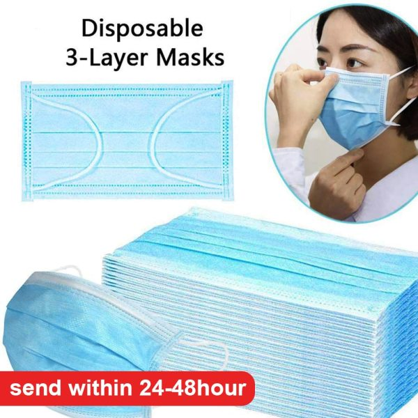 200PCS Disposable Protective Face Mouth Mask Children Kids Face Mask 3-Layers Non-woven Dustproof Anti-virus Boys and Girls #032